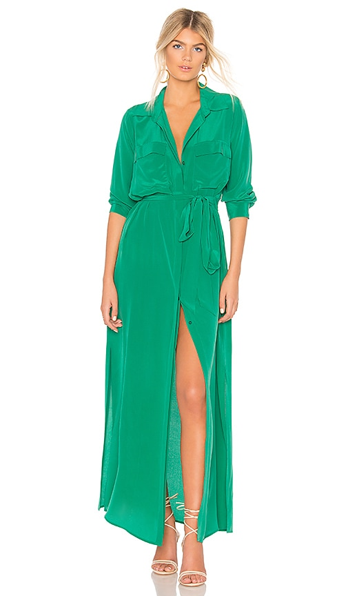 L'AGENCE Cameron Shirt Dress in Green