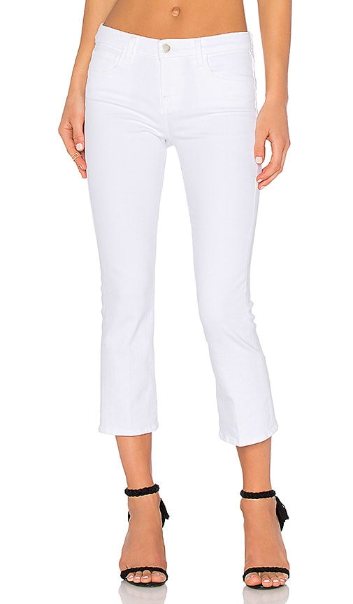 L'AGENCE Charlotte Cropped Flare Jean in White