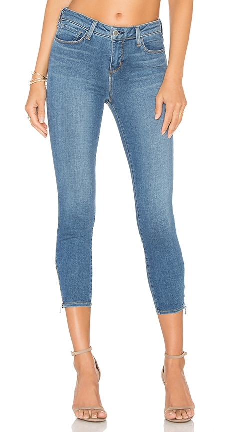 L'AGENCE Emmanuelle Cropped Skinny Jean in Light Vintage