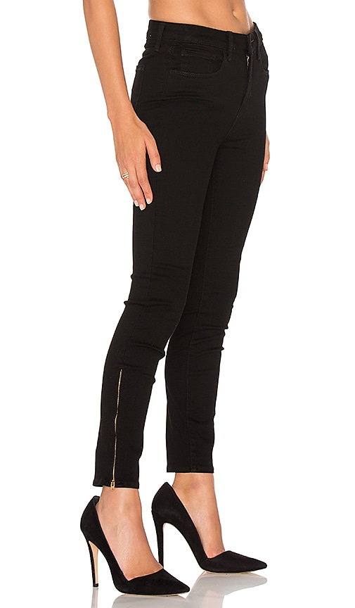 L'AGENCE Andrea High Rise Skinny Jean in Noir