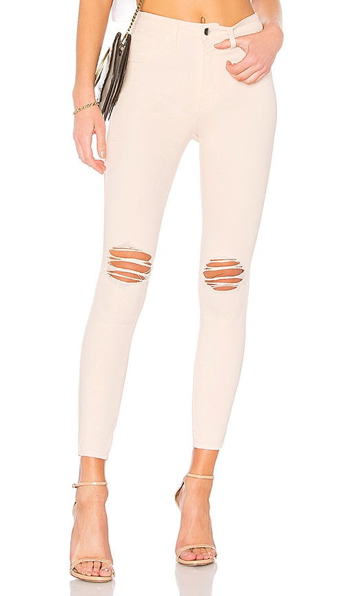 L'AGENCE Margot High Rise Skinny Jean in Quartz Destruct