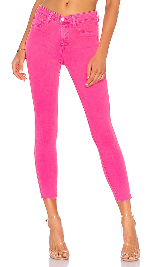 L'AGENCE Margot High Rise Skinny Jean in Flamingo