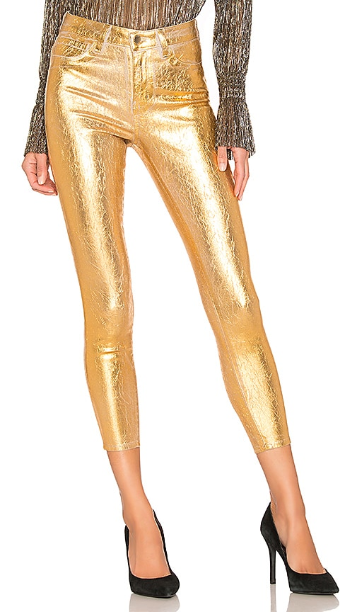 Margot High Rise Skinny With Crackle Foil