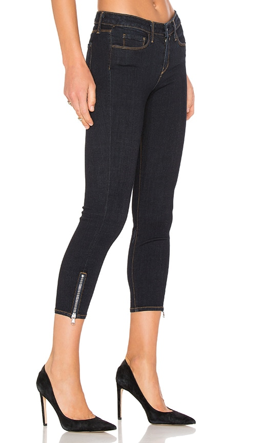 L'AGENCE Emmanuelle Mid Rise Skinny in Midnight