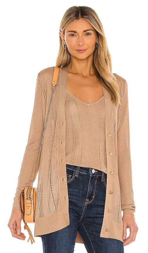 L Agence MILLIE BUTTON DOWN CARDIGAN