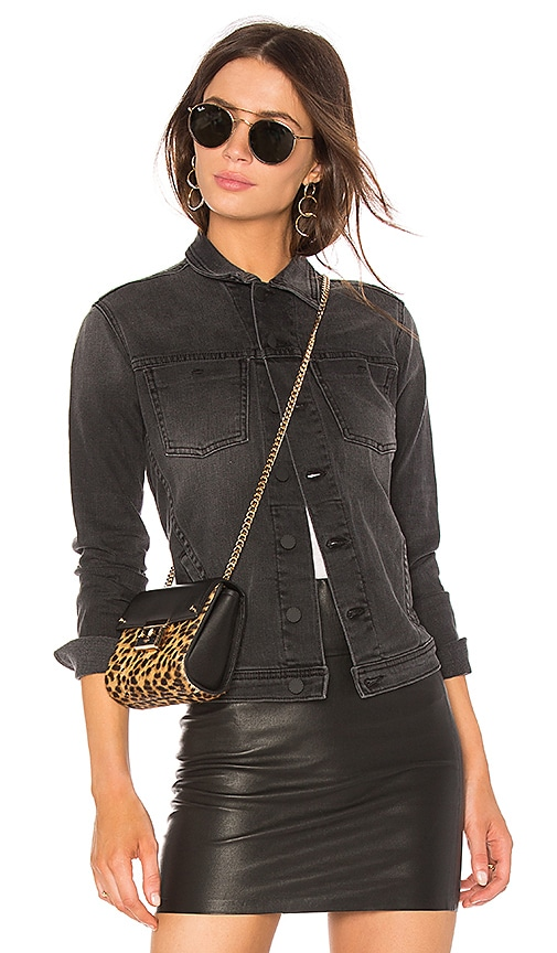 L'AGENCE Celine Jacket in Vintage Black