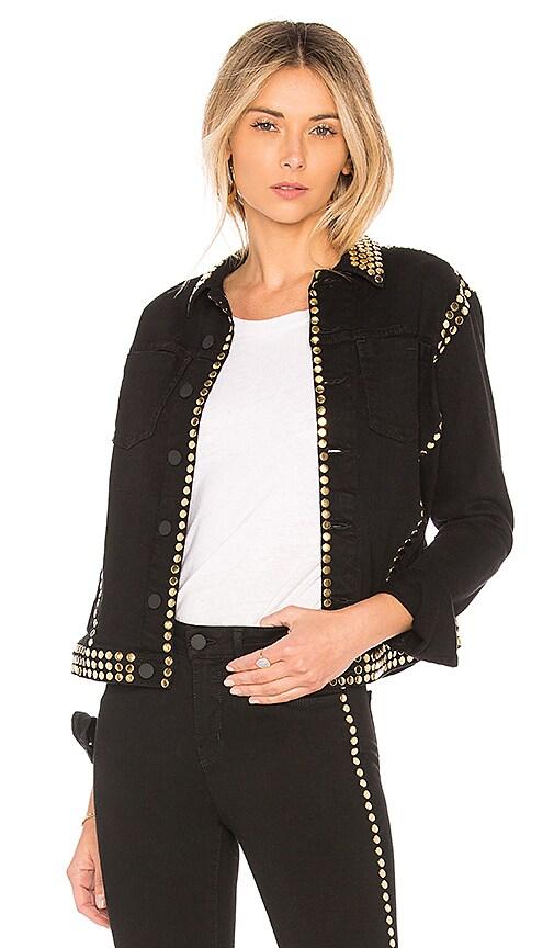 L'AGENCE Celine Studded Jacket in Black
