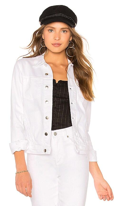 L'AGENCE Celine Jacket in Blanc Distressed