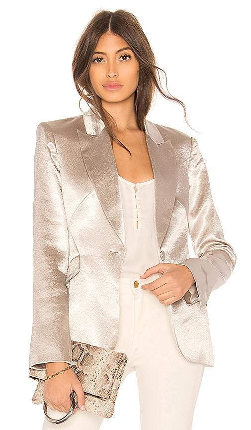 L'AGENCE Chamberlain Blazer in Metallic Silver