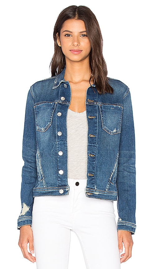 Denim Celine Jacket - Authentique Distressed Size Xs in Blue