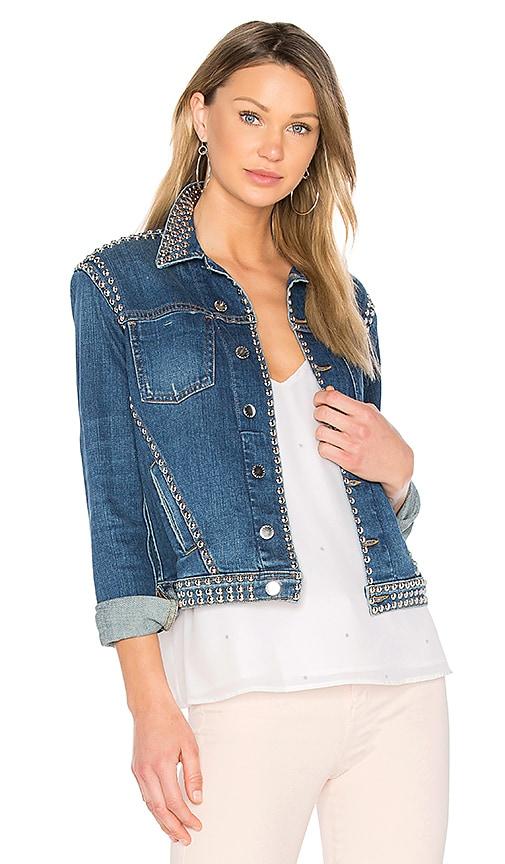 L'AGENCE Celine Studded Jacket in Blue