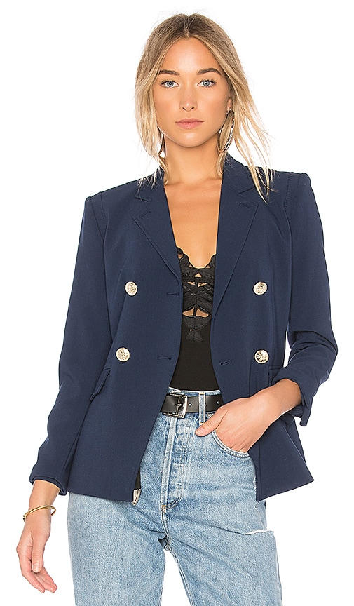 L'AGENCE The Marc Blazer in Navy