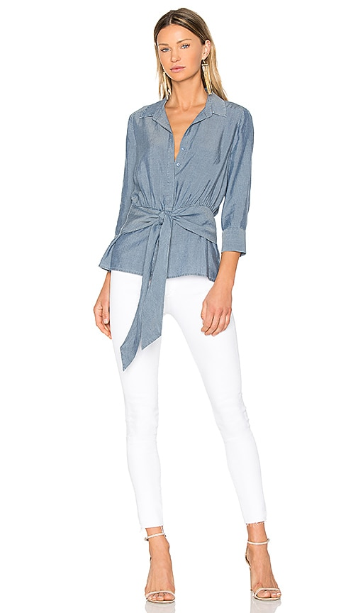L'AGENCE Colette Top in Blue