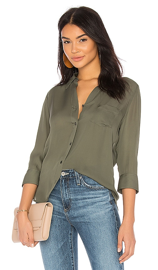 L'AGENCE Ryan Blouse in Green