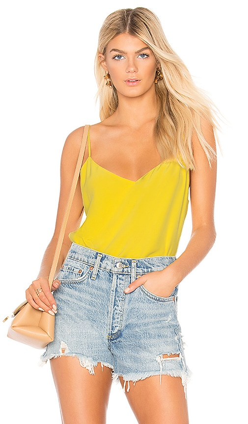 L'AGENCE Jane Top in Yellow