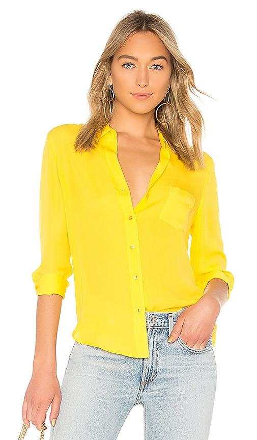 L'AGENCE Ryan Blouse in Yellow