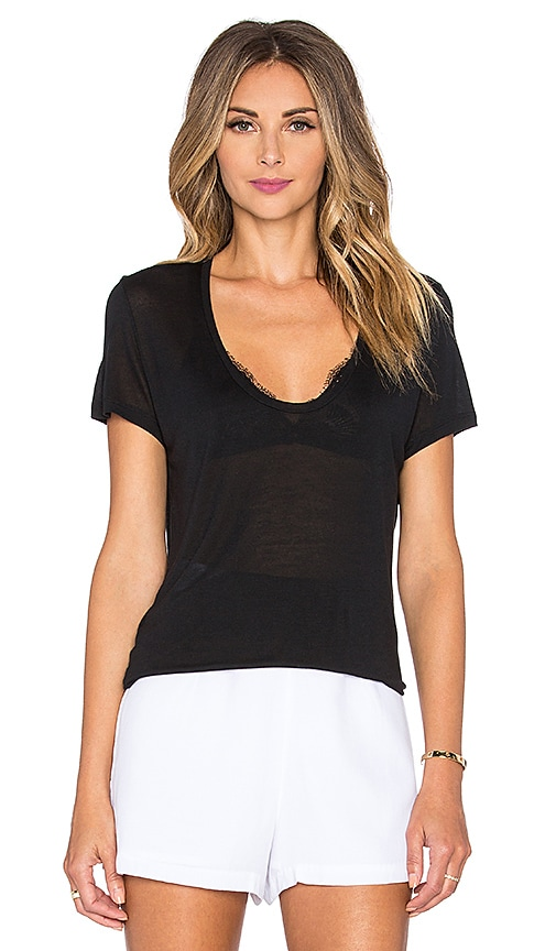 L'AGENCE Perfect Tee in Black