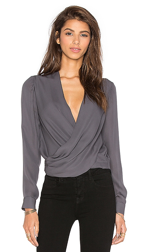 L'AGENCE Gia Blouse in Charcoal