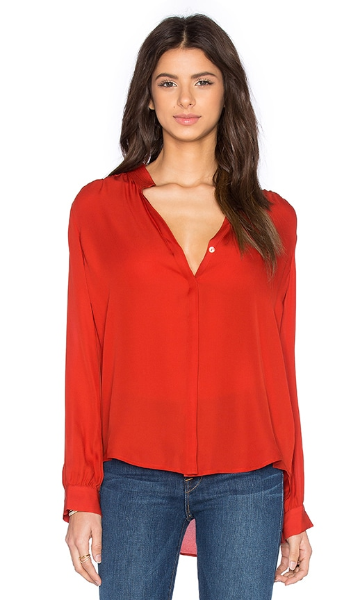L'AGENCE Bianca Blouse in Harissa