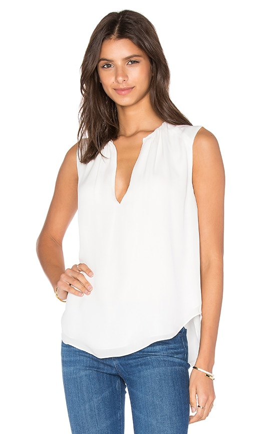 L'AGENCE Abella Tank in Ivory