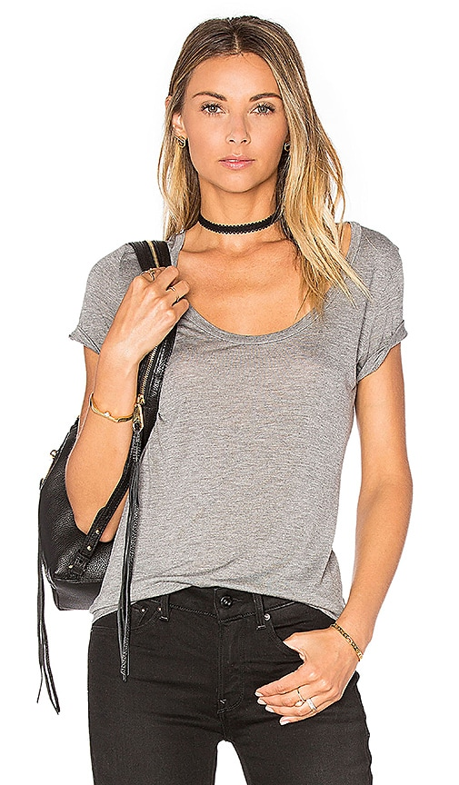L'AGENCE Perfect Tee in Grey