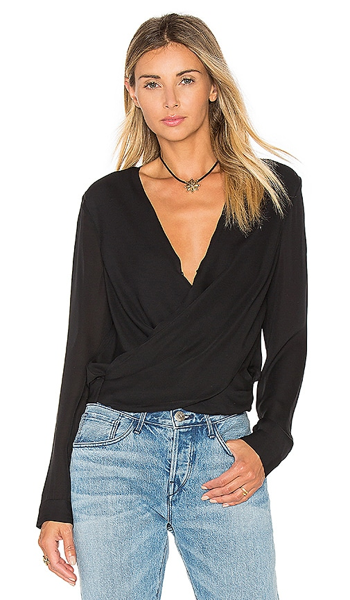 L'AGENCE Gia Blouse in Black