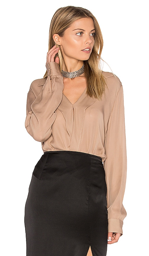 L'AGENCE Rita Blouse in Pink