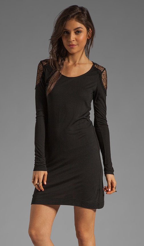 Long Sleeve Lace Inset Dress