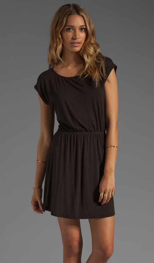 Boatneck Dress with Slit Back Opening