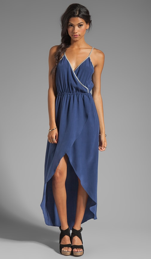 Washed Silk Hi Low Maxi Dress