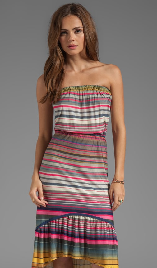 Stripe Jersey Bandeau Dress