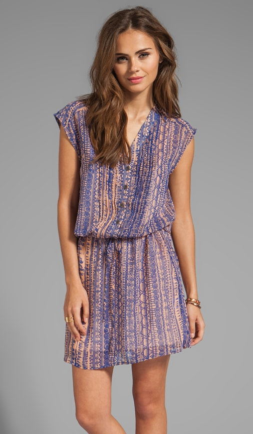 Tribal Printed Drop Waist Dress