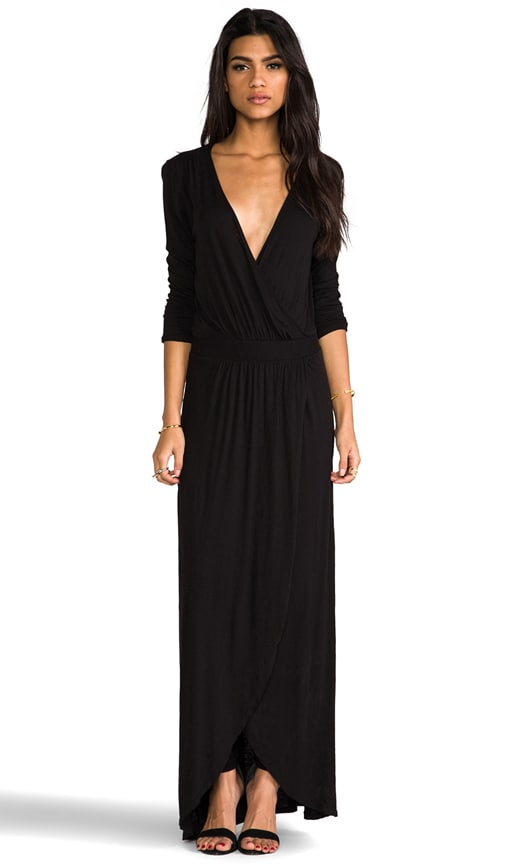 3/4 Sleeve Surplus Jersey Maxi Dress