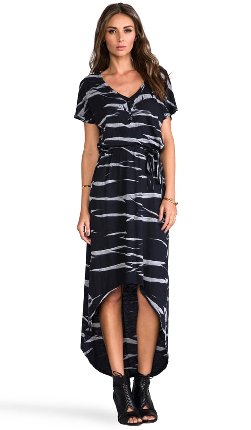 Horizon Wash on Jersey High Low Dress