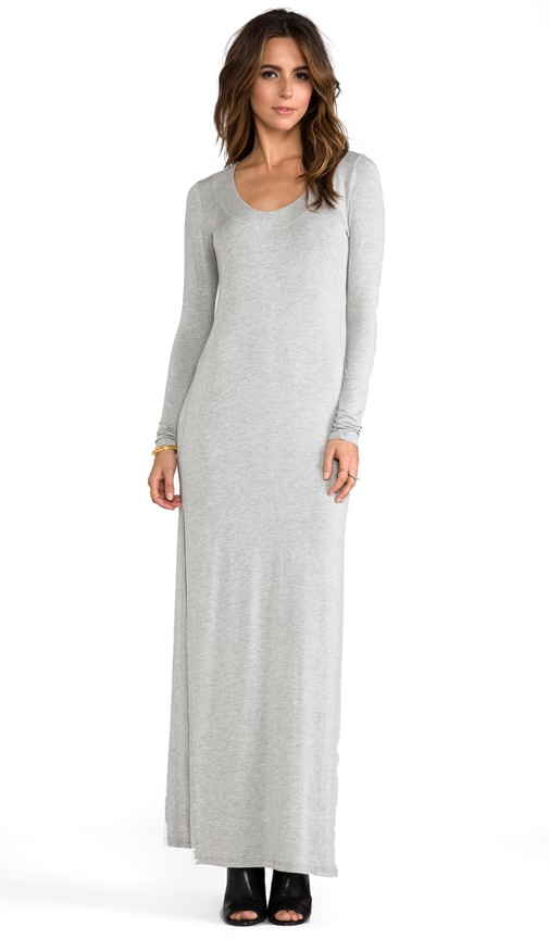 Deep Neck Maxi with Side Slits