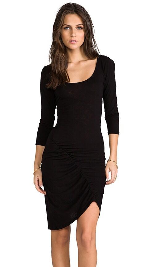 Slub 3/4 Sleeve Dress