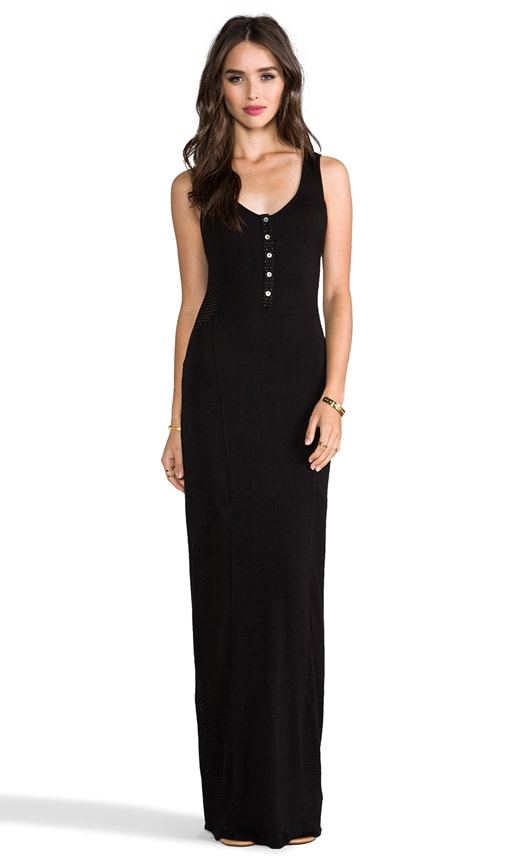Scoop Henley Maxi Dress