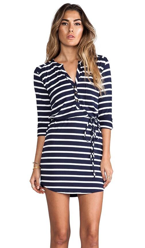 Classic Stripe Henley Dress