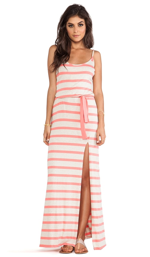 Stripe Side Slit Tank Dress