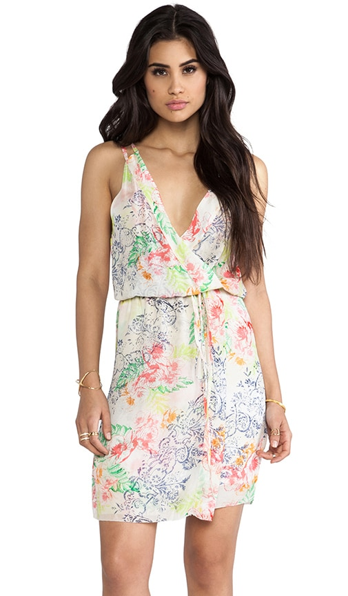 Hawaiian Floral Cross Over Dress