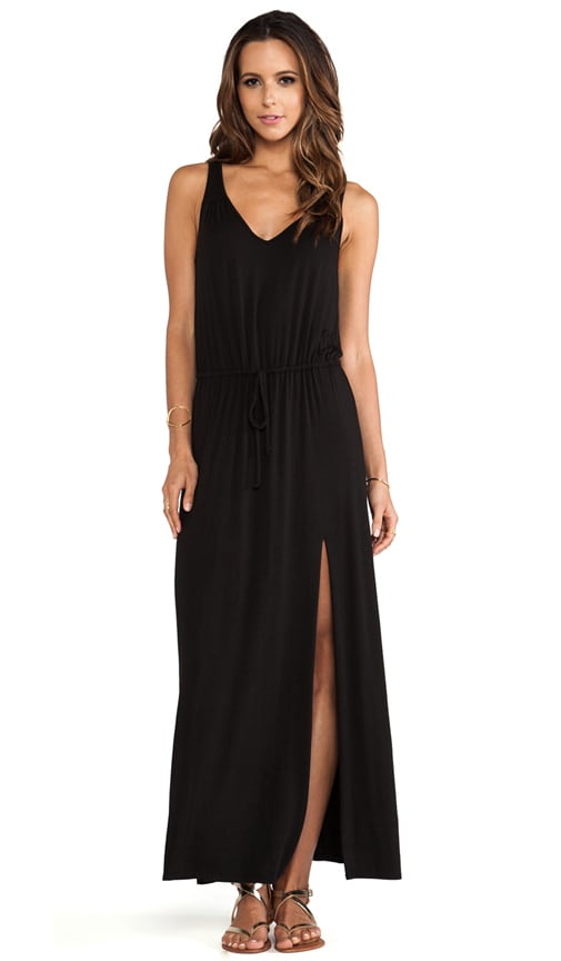 V Back Tie Maxi Dress