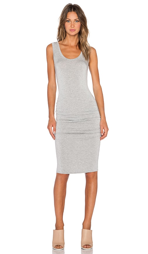 LA Made Frankie Ruched Dress in Grey