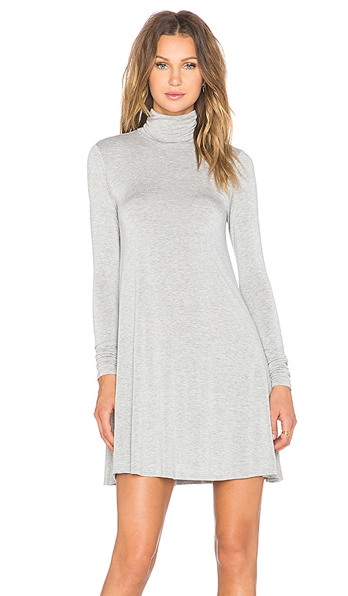 LA Made Penny Turtleneck Dress in Gray