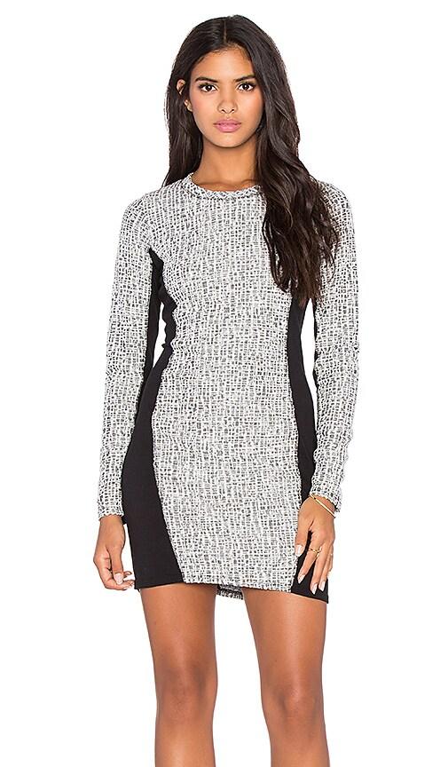 LA Made Tweed Square Ojai Dress in Black
