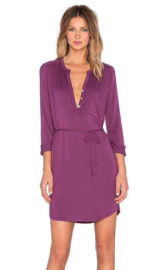 Henley 3/4 Sleeve Dress