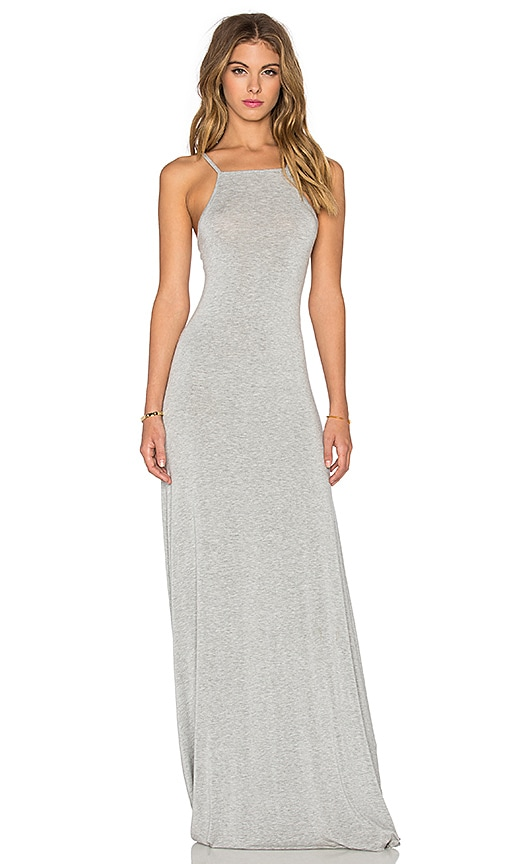 LA Made Lizzie Maxi Dress in Heather Grey