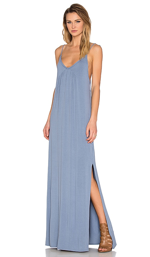 LA Made Molly Maxi Dress in Fresia Blue