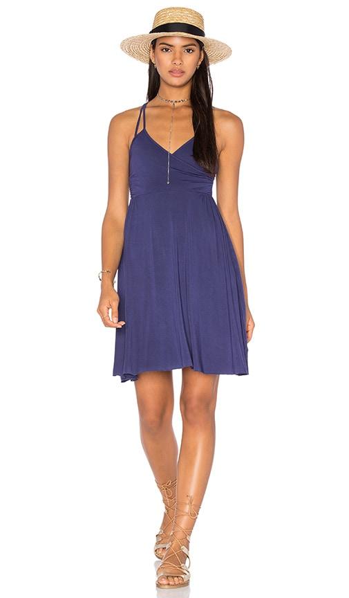LA Made Asymmetric Wrap Dress in Purple