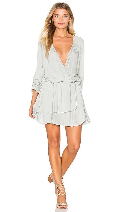 LA Made Rosslyn Dress in Light Gray