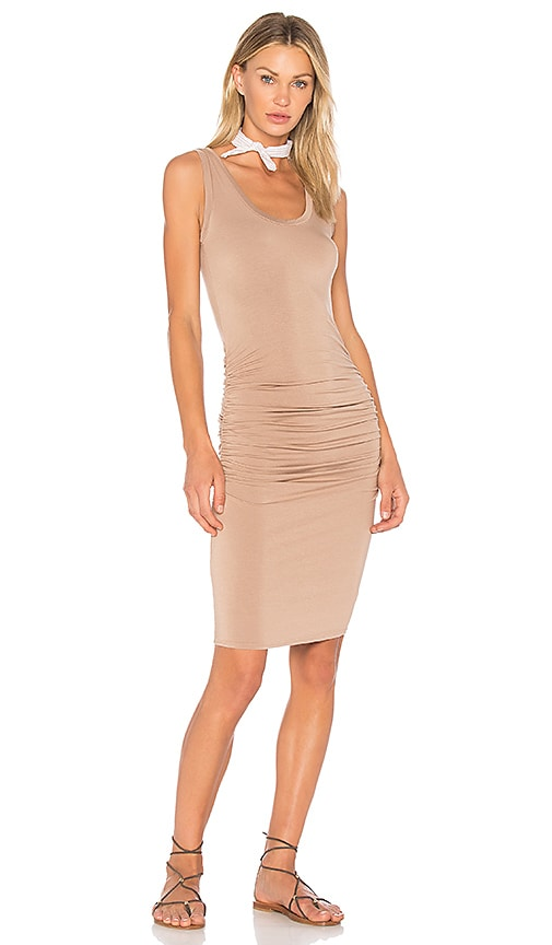 LA Made Frankie Dress in Tan